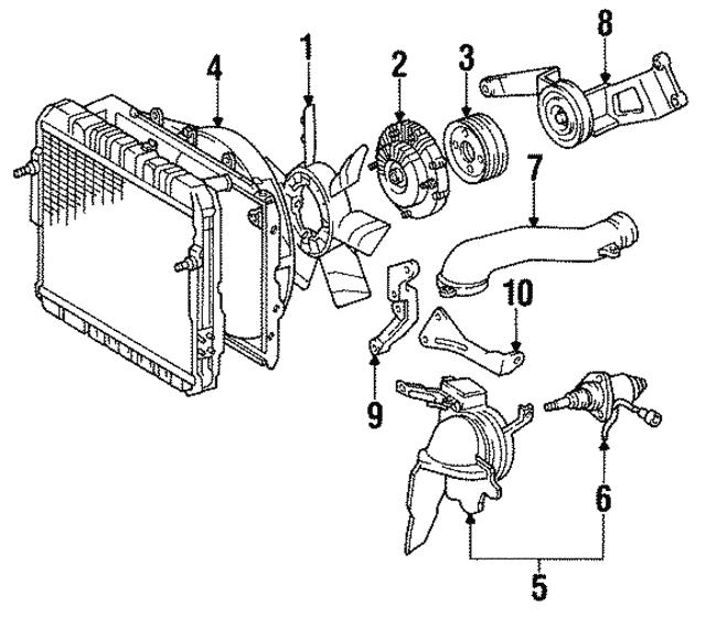 1990 1992 Toyota Land Cruiser Engine Cooling Fan Clutch Blade 16361 61050 Boch Toyota South