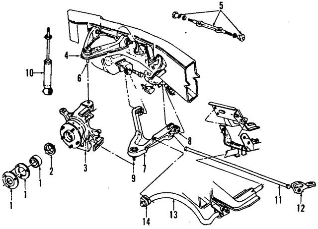1992 1996 Dodge Dakota Knuckle 52038063