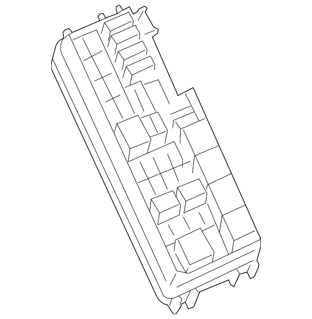 Genuine Mercedes Benz Fuse Relay Box 164 540 30 72
