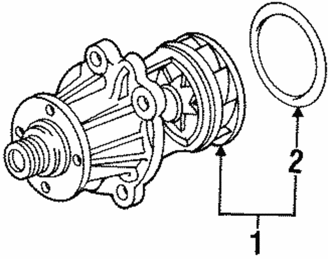 Water Pump - BMW (11-51-0-393-338)