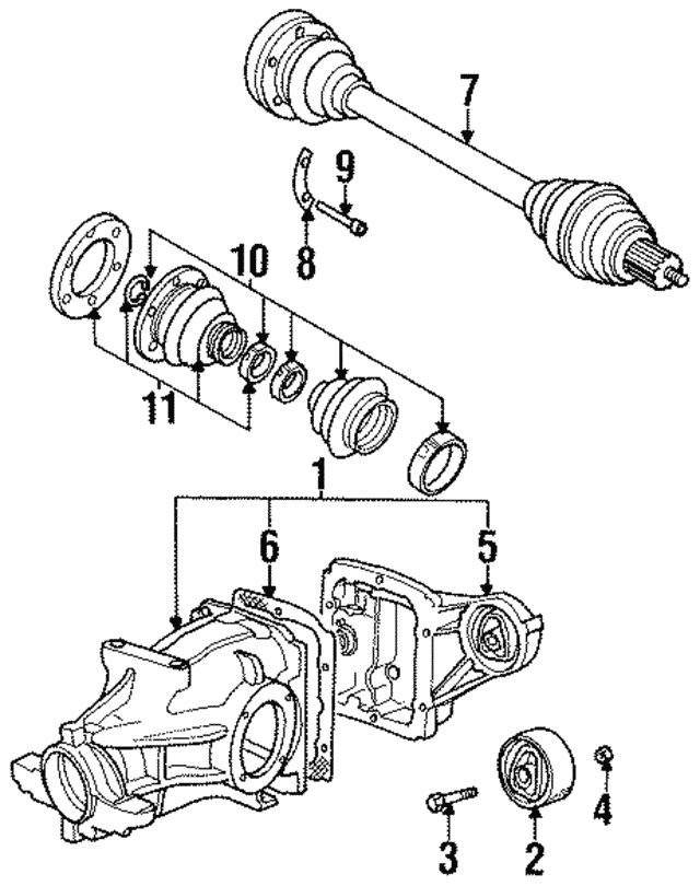 1995 2002 Bmw Differential Carrier Bolt 07 11 9 911 704