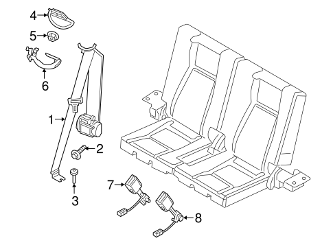 Third Row Seat Belts For 2017 Land Rover Discovery Sport