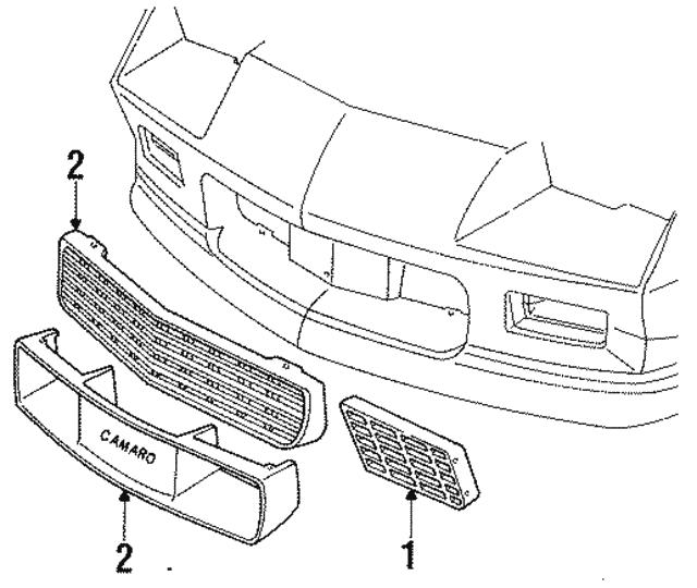 1985 1987 Chevrolet Camaro Grille 14076051