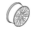 Wheel, Alloy - Ford (KJ7Z-1007-A)