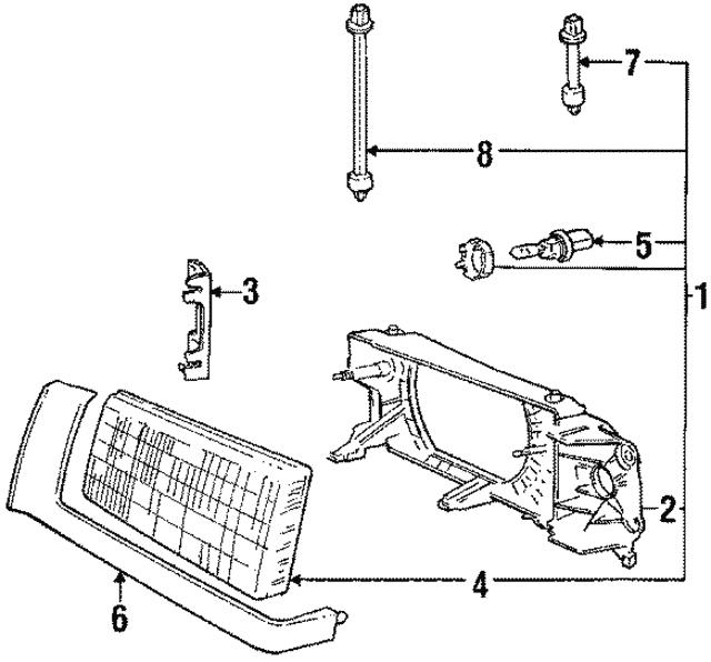 1990 1995 Volvo Headlamp Assembly 1369603