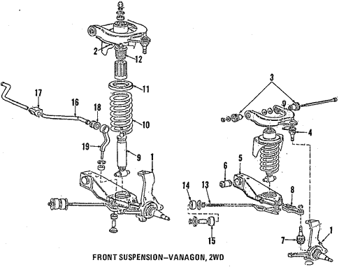Front Suspension For 1987 Volkswagen Vanagon