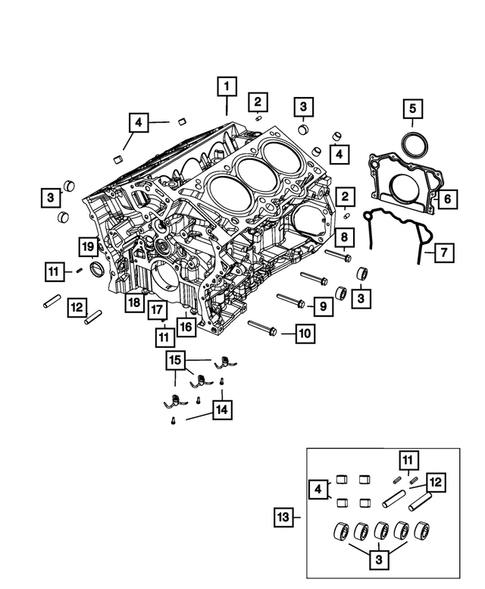 Cylinder Block for 2018 Jeep Grand Cherokee #0