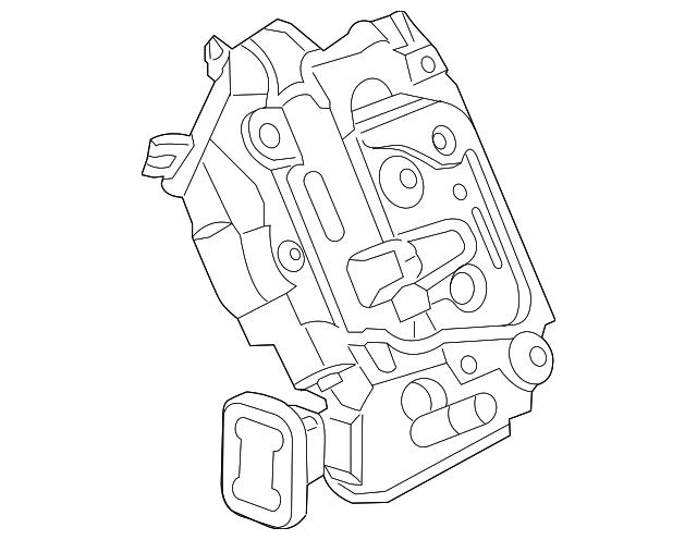 Genuine Volkswagen Lock Actuator 5k4 839 016 Ah