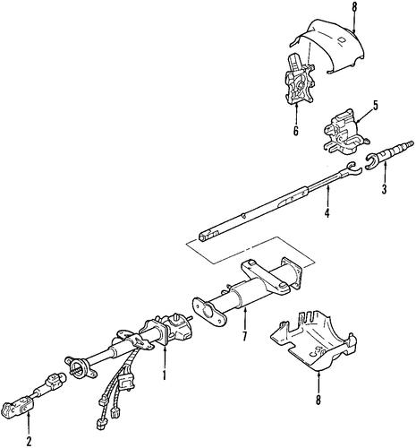 oem 2003 chevrolet venture steering column parts. Black Bedroom Furniture Sets. Home Design Ideas