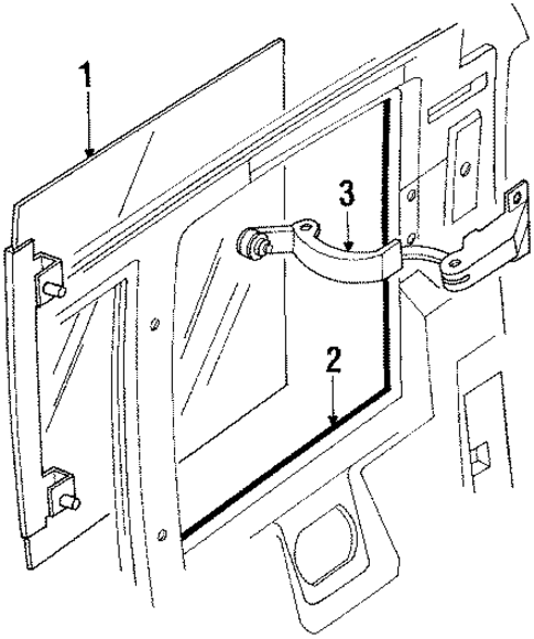Side Glass For 1992 Dodge Dakota Parts