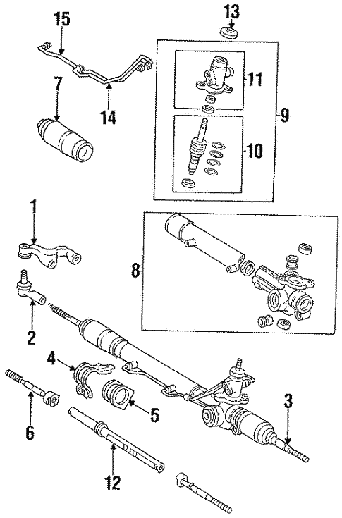 Steering Gear Linkage For 1998 Toyota T100 Lowe Toyota Parts Center