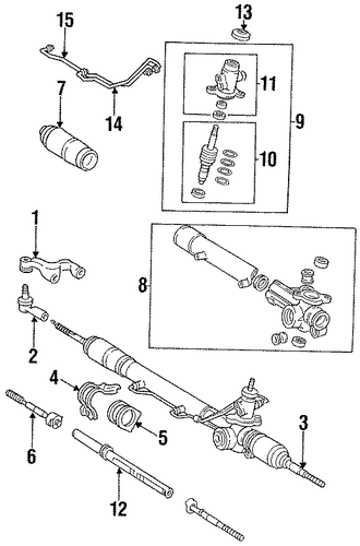 STEERING/STEERING GEAR & LINKAGE for 1997 Toyota T100 #3