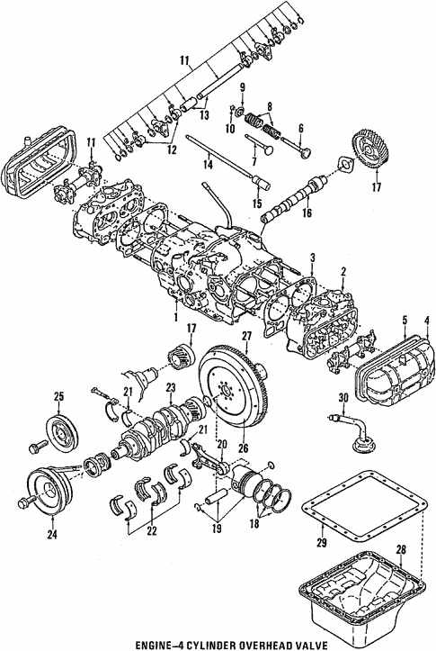 Engine for 1988 Subaru Justy #2