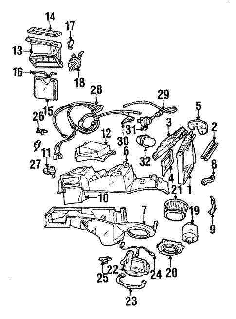 Blower Motor Fan For 1996 Ford Mustang