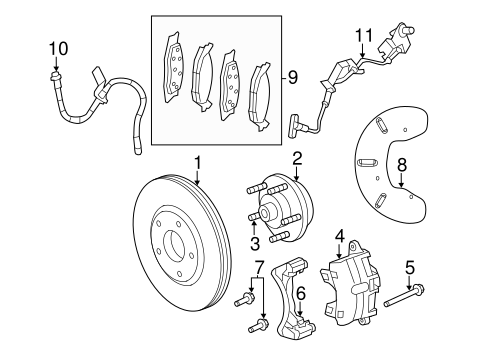 Brake Components For 2012 Chrysler 200