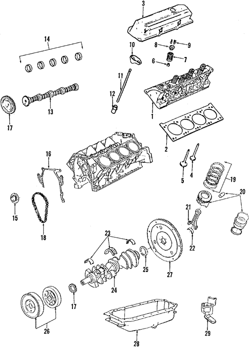 engine parts for 1991 cadillac seville gm parts online gm parts online