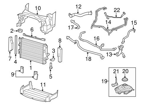 radiator  u0026 components for 2012 jaguar xfr