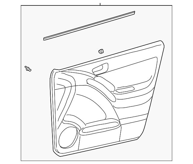 2007 Pontiac Vibe Transmission: Door Trim Panel - GM (88973805)