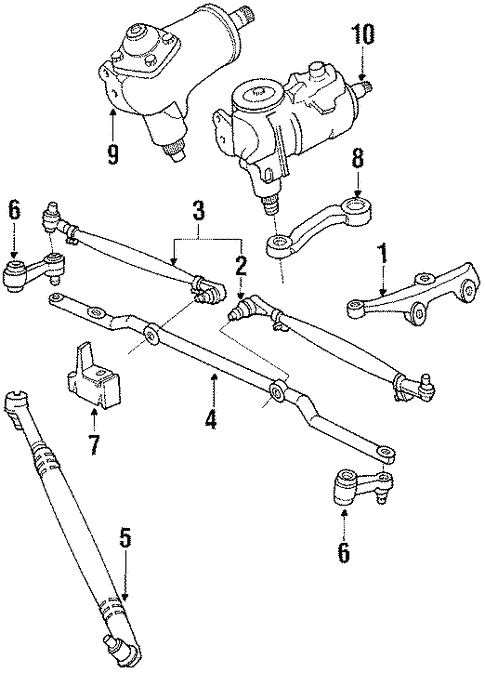 Steering Gear Linkage For 1990 Dodge B350