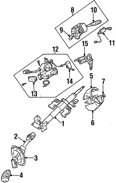 Steering Column Assembly For 1999 Dodge Avenger