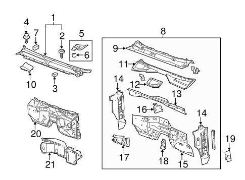 oem 2013 gmc sierra 2500 hd cowl parts. Black Bedroom Furniture Sets. Home Design Ideas