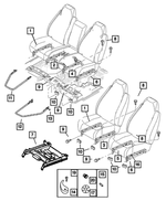 Seat Adjuster, Driver, Power - Mopar (5066168AA)