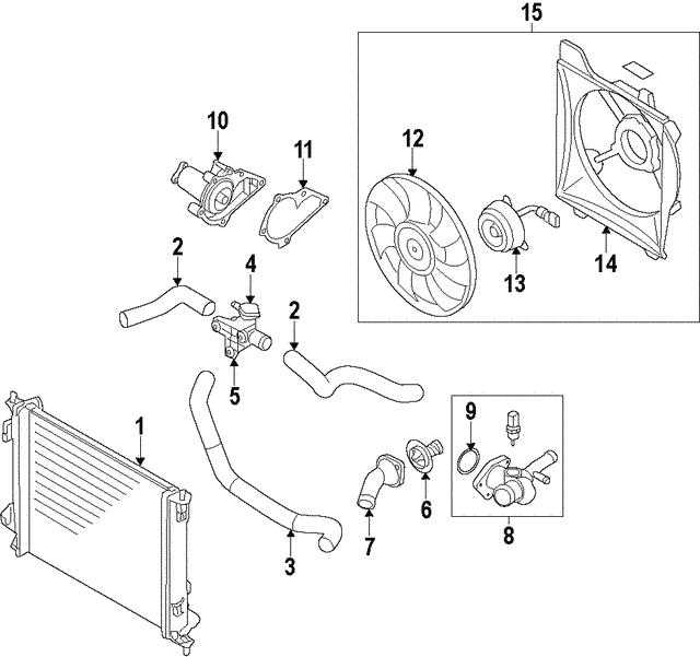 genuine oem radiator assembly part 25310 a5100 fits 2013. Black Bedroom Furniture Sets. Home Design Ideas