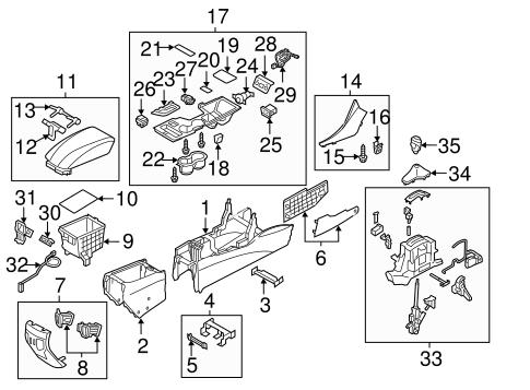 Center Console Parts
