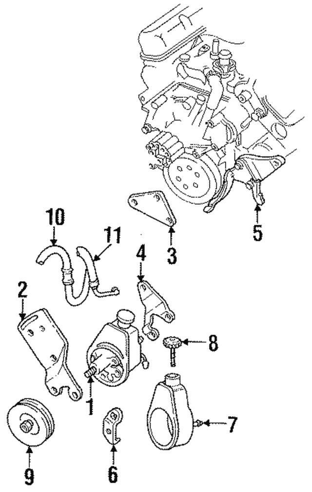 power steering pump bracket - mopar (4323956)