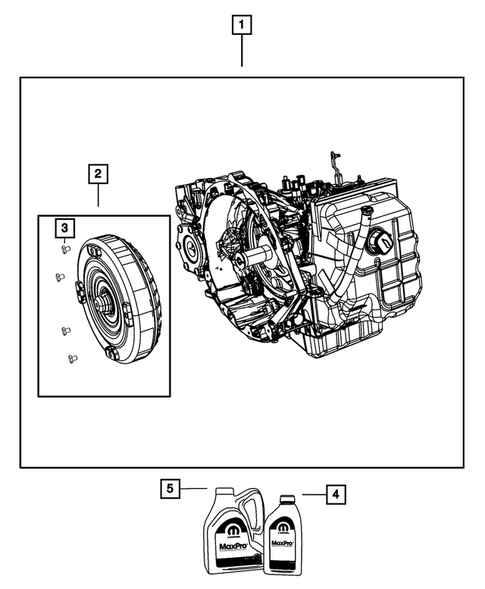 Automatic Transmission / Transaxle and Torque Converter for 2013 Chrysler Town & Country #0