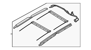 Rail Assembly - Kia (81646-1U000J7)