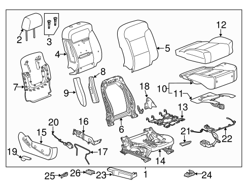 Passenger Seat Components for 2018 GMC Sierra 1500 #0