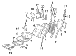 Headrest - Mercedes-Benz (210-970-07-50-8F33)
