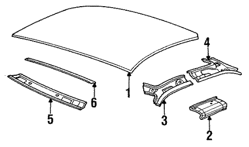 Roof & Components for 1992 Saturn SC #0