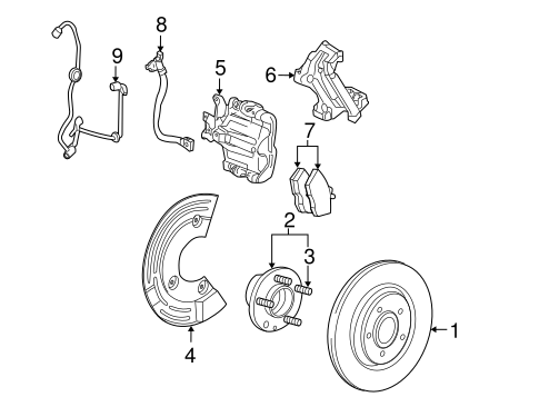 Brakes/Anti-Lock Brakes for 2009 Ford Taurus #4