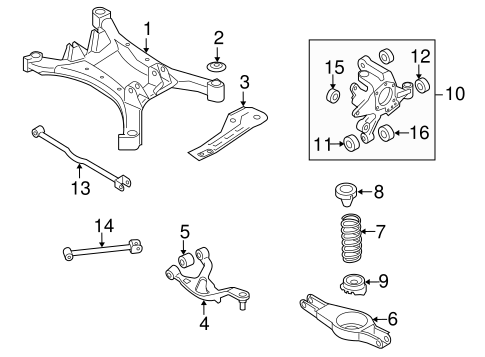 Rear Suspension/Rear Suspension for 2011 Nissan Altima #5