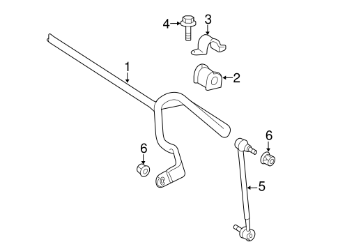 Stabilizer Bar & Components for 2015 Toyota Avalon #0