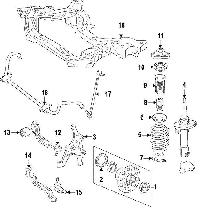 Strut - Mercedes-Benz (212-323-54-00)