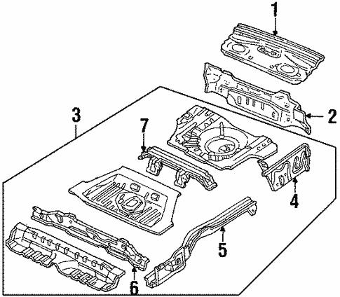 Rear Upper Body For 1998 Ford Escort