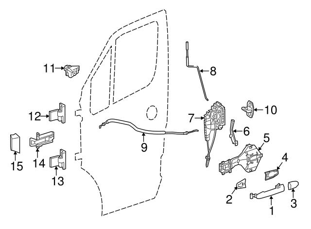 Genuine Mercedes-Benz Lock Assembly 906-720-21-35