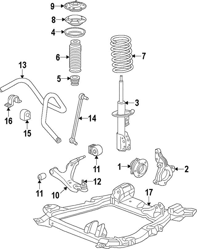 2015 2016 Honda Cr V 5 Door Knuckle L Front 51216 T1x A10