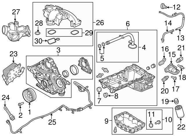 Genuine Ford Crankshaft Pulley Bolt BC3Z-6379-B