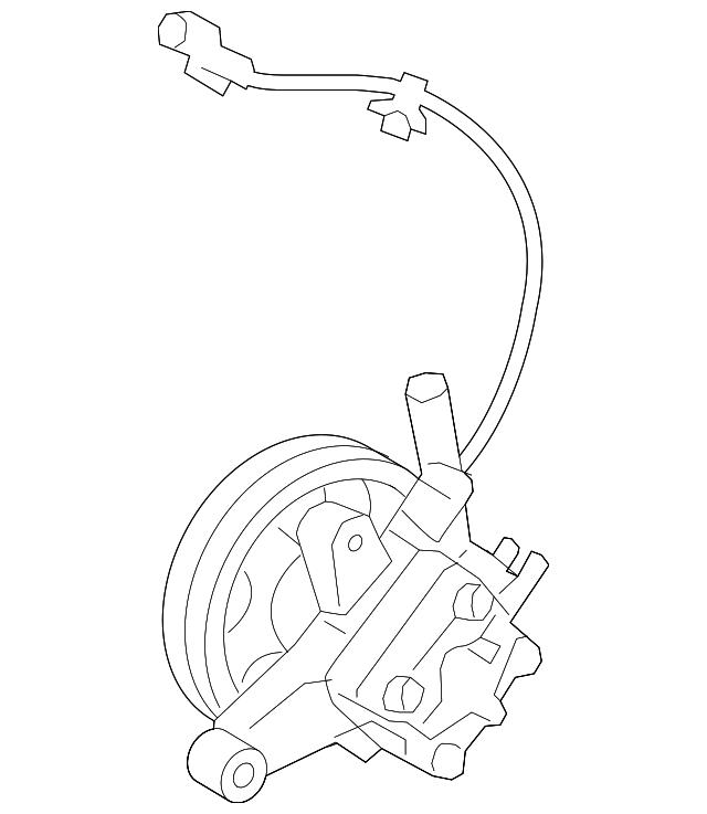 2011 2013 Kia Sorento Power Steering Pump 57100 2p350