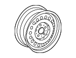 Wheel, Steel - Mercedes-Benz (210-400-02-02)