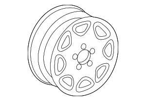 Wheel, Alloy - Mercedes-Benz (6-6-47-0065)