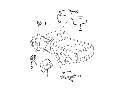 ELECTRICAL/AIR BAG COMPONENTS for 1999 Toyota Tacoma #2