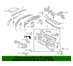 Insulation Bracket - Mercedes-Benz (202-625-21-14)