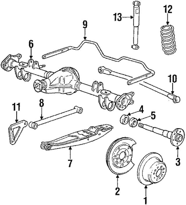 For 514 127 3622 Volvo 240 Rear Torque Arm Bushing Meyle 1273622
