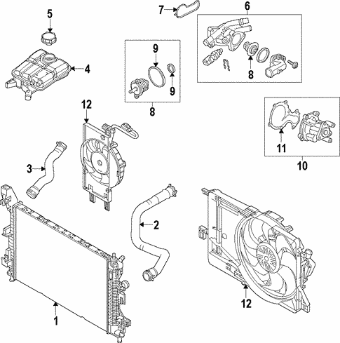 Cooling System/Radiator & Components for 2015 Ford Focus #1