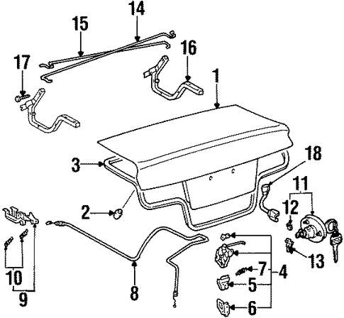 BODY/TRUNK for 1997 Toyota Paseo #1